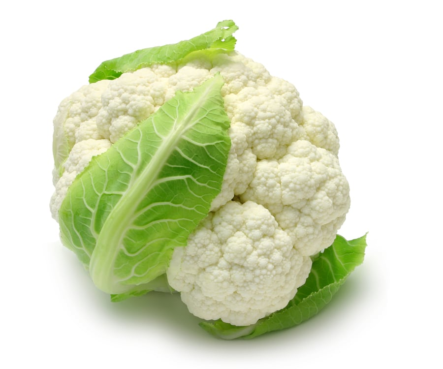 Whole Cauliflower isolated on white